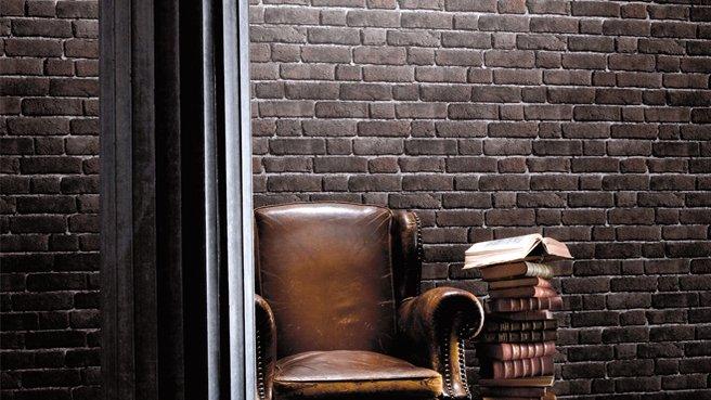 Un mur en pierre pour une d co pur e et pleine de charme charlyd co - Papier peint trompe l oeil brique ...