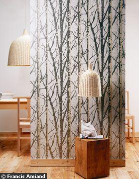 le papier peint revient en force avec des couleurs et des motifs tendances charlyd co. Black Bedroom Furniture Sets. Home Design Ideas