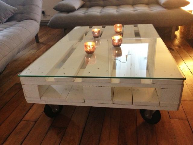 Table Basse Aquarium Sur Mesure ~ Fabriquer Sa Table Basse Avec Une Palette Picture